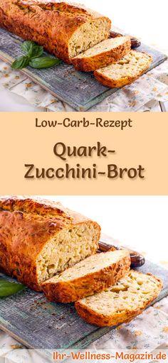 Rezept für Low Carb Quark-Zucchini-Brot: Kohlenhydratarm, ohne Getreidemehl, gesund und gut verträglich ... #lowcarb #brot #backen