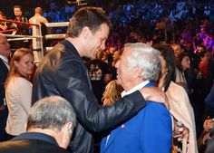 Pin for Later: Stars Totally Stole Mayweather and Pacquiao's Spotlight Tom Brady and Robert Kraft