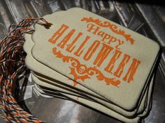 Happy Halloween Gift Tags Favor Tag by Sweetturquoise on Etsy, $6.00
