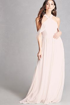 Soieblu Flounce Maxi Dress. In cream or blush