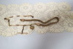 Antique Rolled Gold Elaborate Watch Chain Locket Fob Hand Engraved Victorian by KansasKardsStudio on Etsy