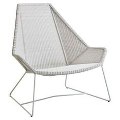 Breeze Highback Chair by Cane-line at Lumens.com Lounge Couch, Lounge Furniture, Modern Furniture, Outdoor Furniture, Lounge Chairs, Dream Home Design, Modern House Design, Contemporary Design, Chair And Ottoman