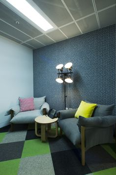 Facebook's Sydney office. #seatingarea #design #moderndesign http://www.ironageoffice.com