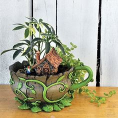 Georgetown Woodland Table and Stool Set Fiddlehead Fairy Garden Collection