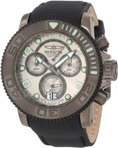 Invicta Mens 10719 Sea Hunter Chronograph Silver Grey Dial Watch -- Read more  at the image link.