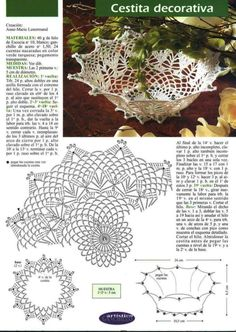 Crochet Leaf Patterns, Crochet Doily Diagram, Crochet Leaves, Freeform Crochet, Crochet Chart, Thread Crochet, Filet Crochet, Crochet Doilies, Crochet Vase