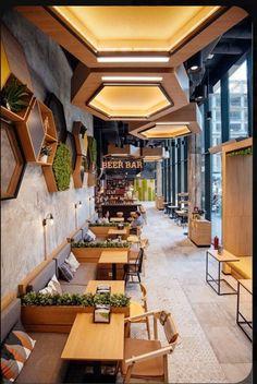 Coffee Bar Design, Coffee Shop Interior Design, Modern Interior Design, Interior Ideas, Modern Decor, Restaurant Design, Restaurant Seating, Design Hotel, Cafe Seating