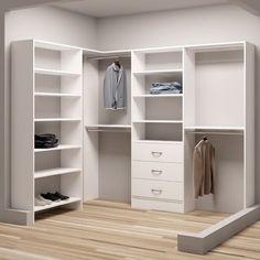 """TidySquares Inc, Demure Design 93""""W - 67""""W Closet System"""