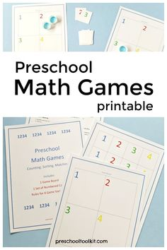 This printable game board provides easy math games for preschoolers. Kids will learn to count and sort with number cards and small game pieces. Engage early math and fine motor skills with simple math games. Easy Math Games, Preschool Math Games, Math Activities, Free Games, Early Math, Early Learning, Printable Board Games, Free Printable, Teacher Page