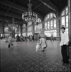1956. Centraal Station in Amsterdam. Photo  Particam Pictures/MAI. #amsterdam #1956 #centraalstation