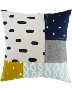 Patchwork Pillow  - great colours