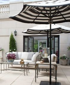 Best Outdoor Patio Umbrellas A Twist On The Expected Well Black And White Striped