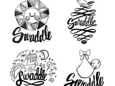 Swaddle logo sketches by This Paper Ship