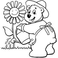 Desenhos de ursinhos fofos e cutes para colorir pintar e imprimir ursos e ursas - urso para pintar - Espaço Educar desenhos para colorir