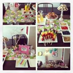 Breakfast Buffet birthday party! Perfect for after a birthday sleepover for kids