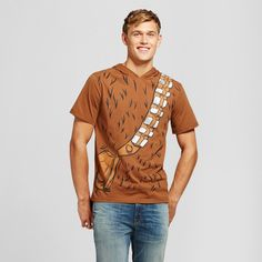 Men's Chewbacca with Mask Graphic T-Shirt - Brown Xxl