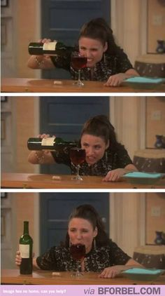How I pour my wine