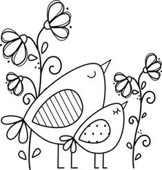 This would be a cute stain glass pattern. LITLLE BIRDS...gonna cross stitch this...so cute :)