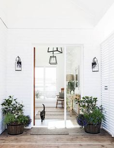 Unhappy with the original side entrance, Anna requested that Adam Hobbs of… Outdoor Spaces, Outdoor Living, Entrance Ways, Farm Entrance, Inside Home, Beach Shack, Australian Homes, Inspired Homes, Architecture Details