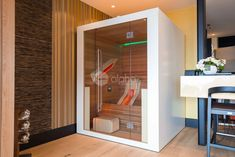 Put an alpha sauna like this in your own home, and let yourself unwind whenever you want. Cool Swimming Pools, Best Swimming, Infrared Heater, Infrared Sauna, Indoor Sauna, Barrel Sauna, Traditional Saunas, Salt Room, Sauna Design