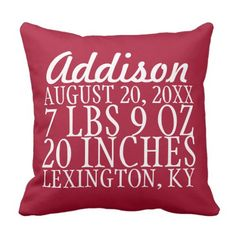 Start Announcement Typography Pillow - Personalize. >>> Find out even more by clicking the image