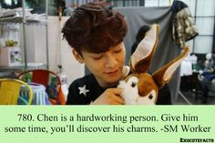 ImageFind images and videos about kpop, exo and Chen on We Heart It - the app to get lost in what you love. Chanyeol, Kai Exo, Exo Chen, Exo Facts, Funny Facts, Sistema Solar, Solo Pics, Kim Jongdae, Exo Ot12