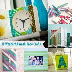 10 wonderful washi tape crafts!