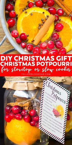 DIY Christmas Gift: Christmas Potpourri in a Jar with Free Printable | DIY Gift Ideas for friends | Neighbors Gifts | Teacher Gifts Neighbor Christmas Gifts, Easy Diy Christmas Gifts, Christmas Gift Baskets, Christmas Jars, Christmas Ideas, Neighbor Gifts, Christmas Gifts For Teachers, Santa Gifts, Christmas Nativity