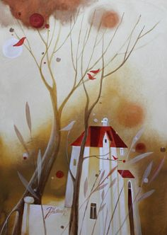 """a za plotom sú orechy"""" Projects, Painting, Art, Art Background, Blue Prints, Painting Art, Kunst, Paintings, Performing Arts"""