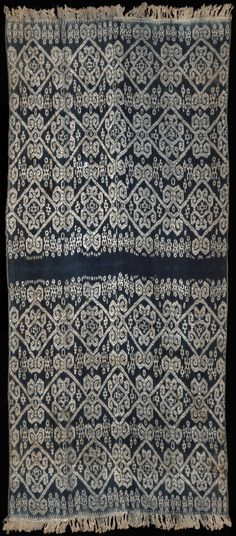 Ikat beti (blanket) from Amanuban, West Timor,  Indonesia, ca. 1910.