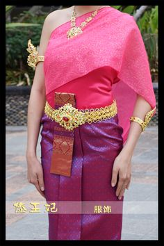 Dai princess dress Thailand traditional special dress female Rose red veil shoulder sleeveless clothes Minority costume