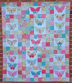 Flutter By Butterfly Quilt Pattern featuring Snug as a Bug fabric by Melly & Me for Riley Blake Designs