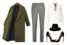 """Yoins Guilted Duster Coat in Green"" by thestyleartisan ❤ liked on Polyvore featuring Joseph, Lipsy, Christian Louboutin and Gucci"