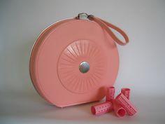 Retro portable hair dryer Sears pink. $24.00, via Etsy.