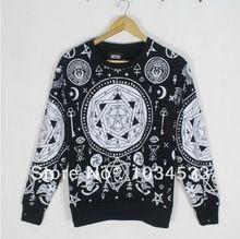 Compte tenu LA Bandana KTZ religieuse boussole géométrie hexagonale crâne pull hip hop amoureux Sweatshirts(China (Mainland))