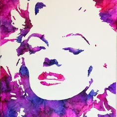 Marilyn Monroe Crayon Art - Artisticjunkie. This is really beautiful! Also inspires some great ideas for how to use melted crayon! SWEET!