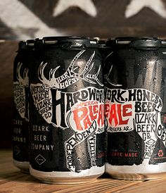 Ozark American Pale Ale Cans #packaging #design #typography