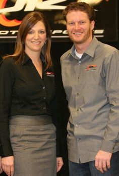 Kelley (Dale Jr's sister) & Dale Earnhardt Jr