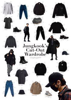Kpop Outfits, Girl Outfits, Fashion Outfits, Airport Outfits, Bts Inspired Outfits, Pop Fashion, Fashion Design, Androgynous Fashion, Harajuku Fashion