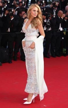 "blake lively chanel dress Blake Lively Shines in Chanel Dress at the ""Mr. Turner"" Cannes Film Festival Premiere"