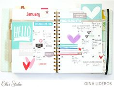 January Planner Page by Gina Lideros for Elle's Studio