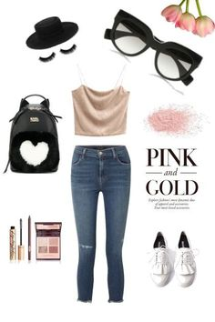 Pink+&+Gold from alihorin - trendme.net