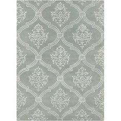 House of Hampton Dollins Abstract Gray/White Area Rug Rug Size: 5' x 7'