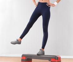 Fitness kalhoty bez postranních švů