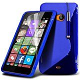 Microsoft Lumia 540 S-Line Wave Gel Case Cover (Blue) Plus Free Gift, Screen Protector and a Stylus Pen, Order Now Best Valued Phone Case on Amazon! By FinestPhoneCases