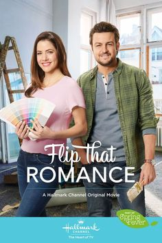 hallmark movie Flip That Romance stars Julie Gonzalo and Tyler Hynes who renovate a home together. Will they flip for each other Find out on March 16 at on Hallmark Channel, part of Spring Fever. Family Christmas Movies, Hallmark Christmas Movies, Hallmark Movies, Family Movies, Hallmark Romantic Movies, Holiday Movies, Christmas 2015, Tyler Hynes, Spring Movie