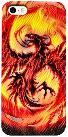 NBK Phoenix Fire Trap Custom Fable Rave Fantasy Style iPhone Case by Willy Badu. On sale for 29.99.