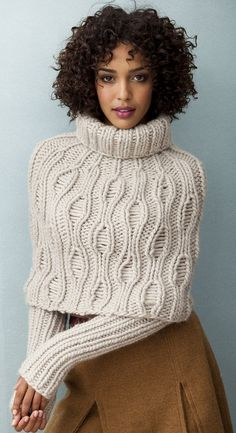 knittet sweater cape with sleeves ♥✤ | Keep the Glamour | BeStayBeautiful