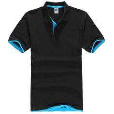 Classic Solid Polo Shirt Men Brand Camisa Polo Men Cotton Short Sleeve Casual Polo Shirt Men Jerseys GolfTennis Plus Size Polo Shirt Brands, Mens Polo T Shirts, Short Sleeve Polo Shirts, Men's Polos, Gents Shirts, Golf Shirts, Tees, Tee T Shirt, Tee Shirt Homme