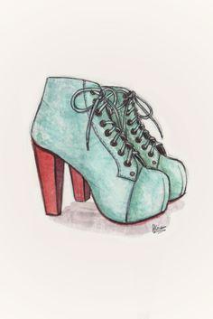 Illustration. Shoes